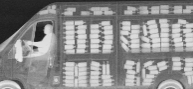 ZBV system Z Backscatter X-ray image