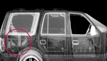Z Backscatter image of vehicle