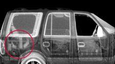 Z Backscatter image helped border officials uncover a smuggler attempting to hide currency